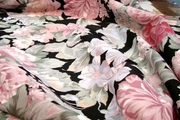 "2 Yards x 74"" Extra Wide Big Floral Washable Cotton Print Fabric"