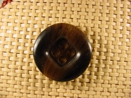 Italian Coat Buttons Wholesale (36pcs) 4 holes Italian Buttons 1 1/8 inches Dark Brown #bag-268