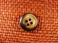 Italian Coat Buttons Wholesale (48pcs) 4 holes Italian Buttons 13/16 inch Brown #bag-335