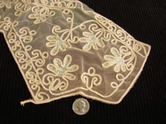Tan Embroidery Lace Vintage Collar Applique #AP-251