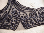 Navy Vintage Embroidery Lace Applique #AP-259