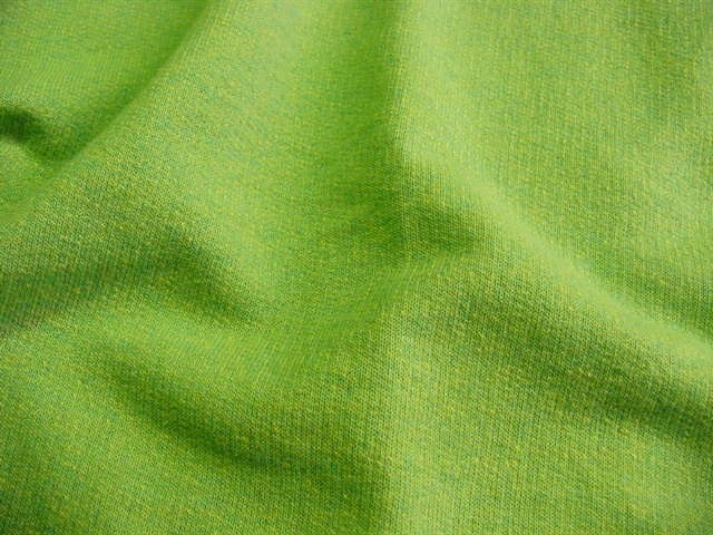 Exclusive Lime Green Yellow Designer Knit Fabric UU-582