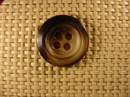 Italian Coat Buttons Wholesale (36pcs) 4 holes Italian Buttons 1 inch Brown #bag-387