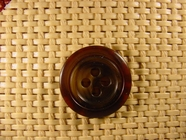 Italian Coat Buttons Wholesale (36pcs) 4 holes Italian Buttons 7/8 inch Dark Brown #bag-391
