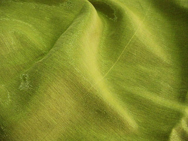 Exclusive Black & Lime Green Italian Sparkle Double Cloth Linen ...