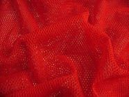 Red Nylon Net Fabric