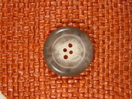 Italian Coat Buttons Wholesale (36pcs) 4 hole Buttons from Italy 1 1/8 inches Light Grey #bag-276