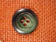 Italian Coat Buttons Wholesale (12pcs) Designer 4 hole Buttons from Italy 1 3/8 inches Forest Green #bag-292