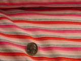 Red Pink Grey White Striped Child Knit Fabric #NV-63