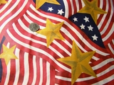 American Flag Prints Fabric # K-700