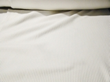 Pure White Cotton Rib Knitted Fabric #NV-123