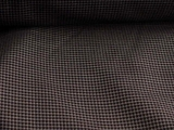 Black Tan Navy Italian Wool Check Suiting Fabric # WL-99
