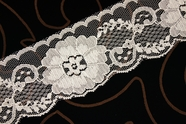 "2 1/2"" Off-White Floral Lace Trim #lace-154"