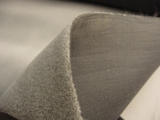 Light Grey Velvet Like Fabric #3F-119
