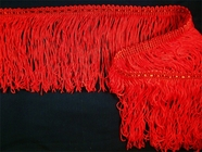 "Italian 4"" Red Chainette Fringe Trim"