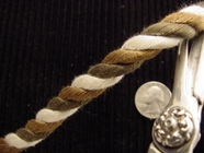 Taupe Vintage White Twisted Cord Trim