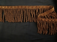 Dark Brown Bullion Fringe Trim Made in Italy
