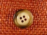 Italian Coat Buttons Wholesale (65pcs) 4 holes Designer Buttons 7/8 inch Brown #bag-9