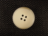 "Italian Coat Buttons Wholesale (35pcs) 1"" Off White 4 Hole Sewing Button"