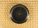 """Italian Coat Buttons Wholesale (34pcs) 1-1/4"""" Dark Gray 4 Hole Sewing Button"""