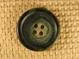 "Italian Coat Buttons Wholesale (46pcs) 1-1/8"" Multi Green Textured 4 Hole Button"