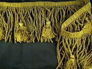 "Italian 5 1/4"" Exclusive Olive Bullion Tassel Fringe Trim LT-58"