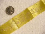 Gentle Yellow Delicate Floral Satin Jacquard Ribbon #-WR-234