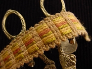Woven Jute Braid Trim Made in Italy Vintage Braided Upholstery Trim