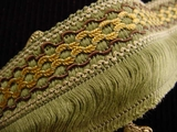 "Italian 2.25"" Wide Fringe Trim Made in Italy Vintage Drapery Fringe Decorative Braid Trim"