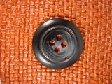 Italian Coat Buttons Wholesale (12pcs) Designer 4 hole Buttons from Italy 1 3/8 inches Navy #bag-293
