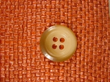 Italian Coat Buttons Wholesale (48pcs) Italian Designer 4 hole Buttons 1 inch Light Brown #bag-302