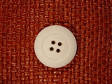Italian Coat Buttons Wholesale (24pcs) Designer 4 hole Buttons from Italy 1 1/8 inches White #bag-308