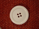 Italian Coat Buttons Wholesale (12pcs) Italian 4 hole Buttons 1 1/2 inches White #bag-321