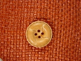 Italian Coat Buttons Wholesale (36pcs) Designer 4 hole Buttons from Japan 1 inch Light Brown #bag-323