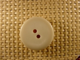 """Italian Thick Coat Buttons Wholesale (48pcs) 1"""" Light Pearl Beige 2 Hole Sewing Button"""