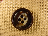 Italian Coat Buttons Wholesale (48pcs) 4 holes Designer Buttons 1 1/8 inches Brown #bag-261