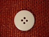 Italian Coat Buttons Wholesale (24pcs) 4 hole Buttons 1 1/4 inches Off White #bag-279