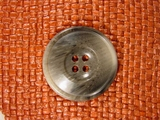 Italian Coat Buttons Wholesale (12pcs) Designer 4 hole Buttons from Italy 1 3/8 inches Grey #bag-287