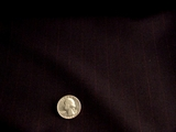 Navy with Wine Pinstripes Wool Blend Suiting Fabric #WL-382