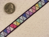 Colorful Pastel Triangle Jacquard Ribbon #-WR-87