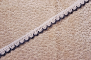 "1/2"" White Navy Scalloped Lace Trim #1016"