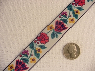 Multi-Colored Floral Jacquard Ribbon #WR-3