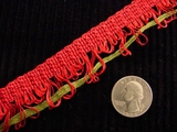 Red Loop Braid Trim Made in Italy Vintage Decorative Braided Trim