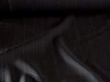 Pinstriped Navy Wool Blend Suiting Fabric # WL-104