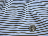 4 ways Stretch Blue Olive Striped Knit Fabric UU-101