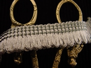 Loop Fringe Trim Made in Italy Vintage Decorative Braided Trim