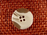 """Italian Coat Buttons Wholesale (50pcs) 1"""" Textured 4 Hole White Clear Sewing Button"""