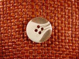 """Italian Buttons Wholesale (72pcs) 3/4"""" Clear White Textured 4 Hole Sewing Button"""