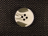 """Italian Buttons Wholesale (96pcs) 3/4"""" Clear White Textured 4 Hole Sewing Button"""