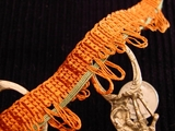 Orange Loop Braid Trim Made in Italy Vintage Decorative Braided Trim